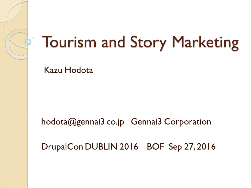 Tourism and Story Marketing