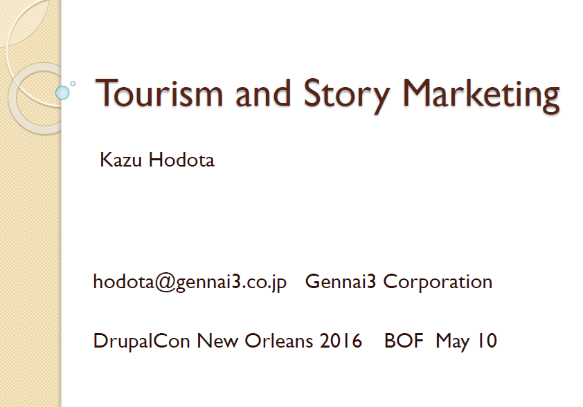 Tourism with Story Marketing
